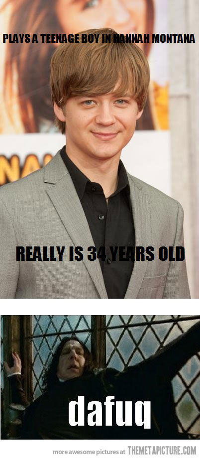 In case anyone is wondering why Hollywood doesn't cast teenagers to play teenagers in movies and TV shows, here's why.