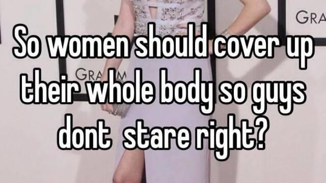 Men should cover up and start having some self-respect!