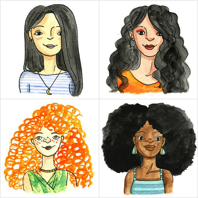 A guide to different hair types and color!