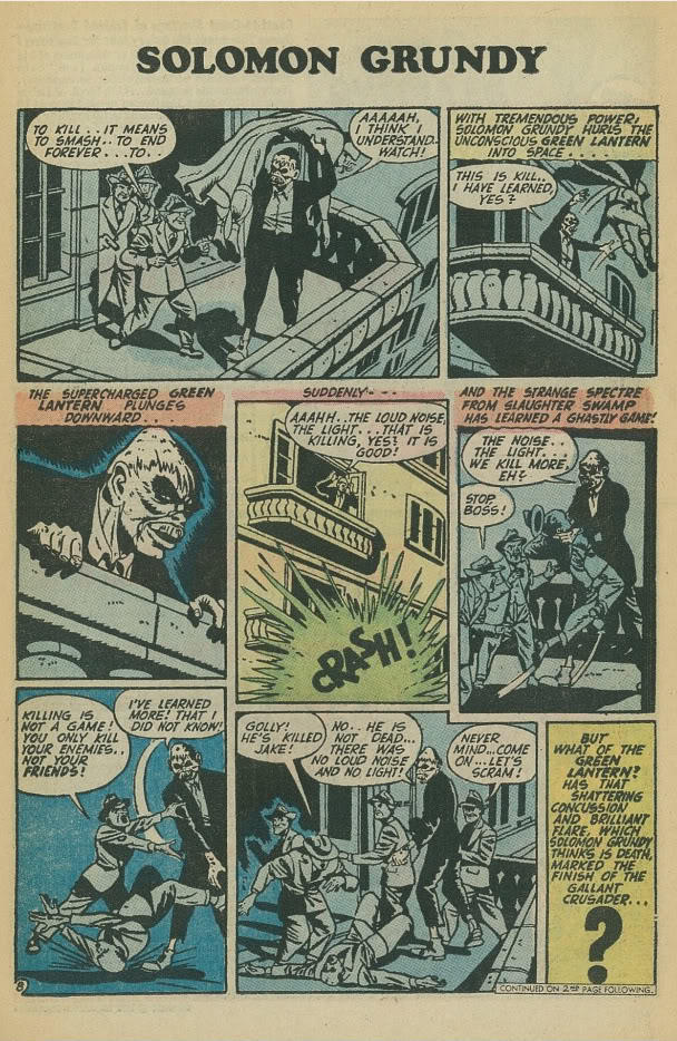 Origin Story 2: Solomon Grundy