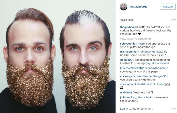 Glitter Beards: Sparkly and Festive... and an Awful Idea