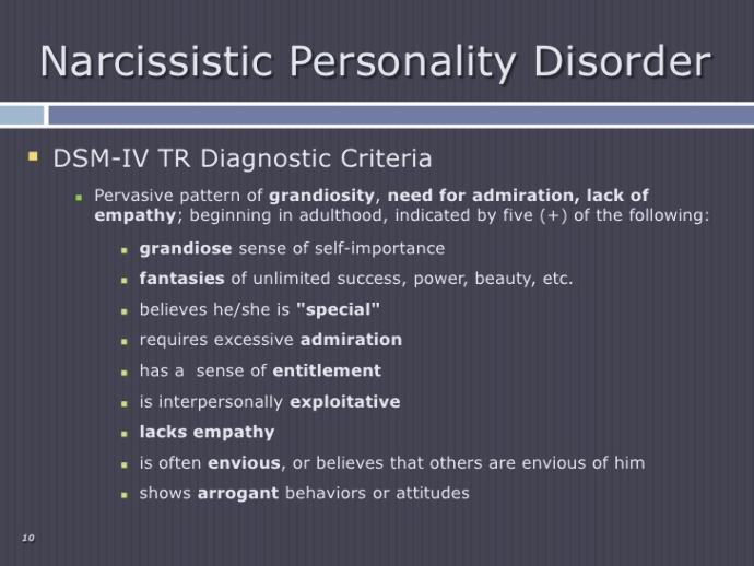 Types of complexes and Personality disorders i see a lot online.