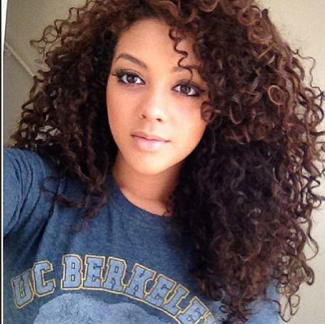 mixed girls with curly hair