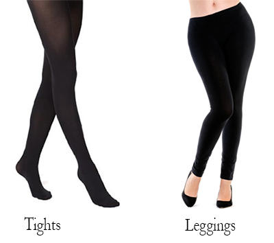 The difference between TIGHTS and LEGGINGS