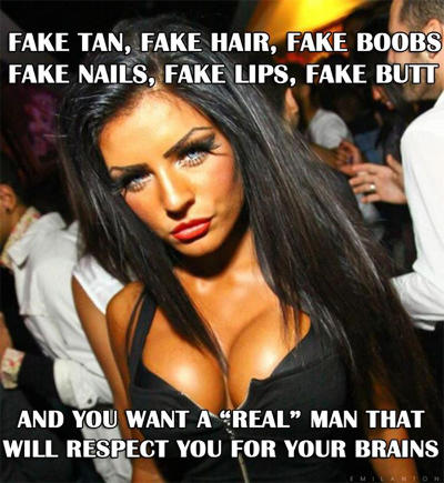 The Meaning of Fake 101: Fake vs Natural  What Men Really Mean