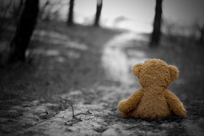 A Young Girl Left Behind