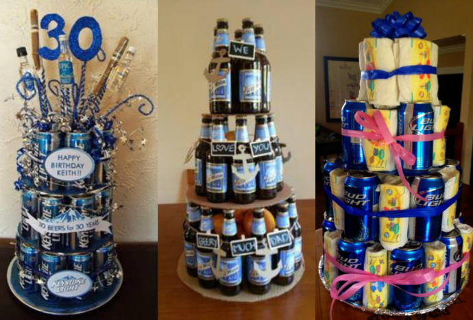 15 Totally Free Or Inexpensive Gift Ideas For Him GirlsAskGuys - Beer Can Wedding Cake