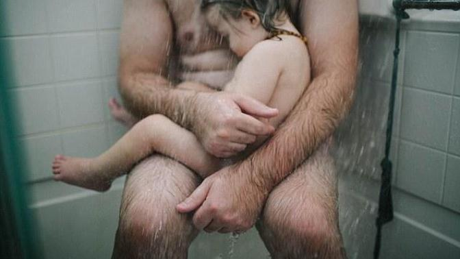 Man Is Seen As A Predator For Comforting His Baby Son In the Shower