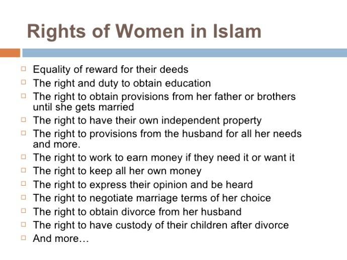 an analysis of women in muslim society Muslim society over the centuries has treated women as second class citizens it's been this way since the beginning of time women are treated in this manor.
