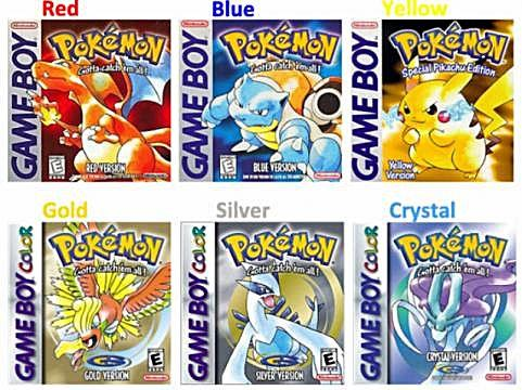 A Guide For The First Six Pokemon Games, If You Want To Collect All The Pokemon On Your Own, Without Cheats