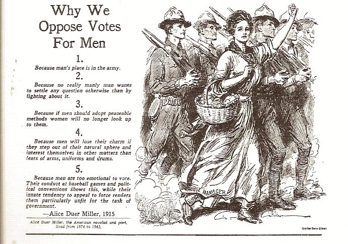 Why Men Should Not Have the Right to Vote (Satire)