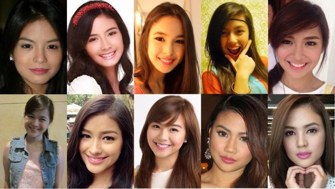Young Beauties: Female Celebrities of the Philippines