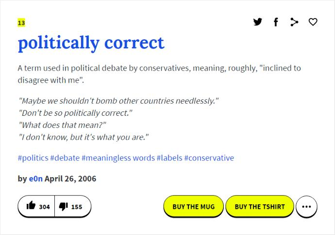 "What ""Political Correctness"" Is Supposed to Mean vs. How the Term is Actually Used"