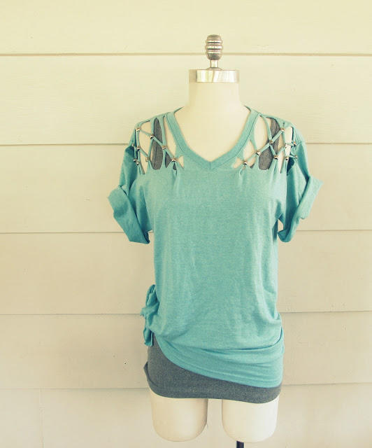 12 DIY T-Shirt Refashion Ideas