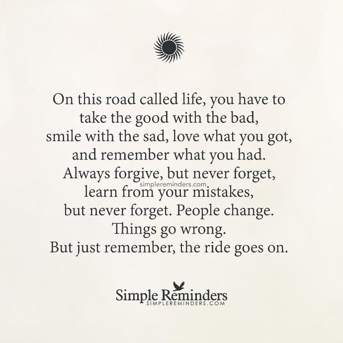 Life Lessons: Taking The Good With The Bad