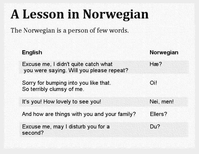 7 Funny Facts About Norway and Norwegians