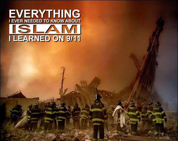 The idiocy of people saying that 'everything they need to know about islam they learned on 9-11'