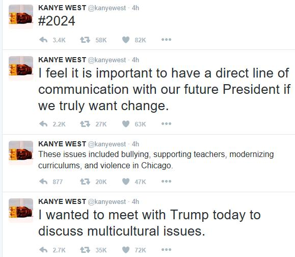 Kanye West explains why he visited Donald Trump