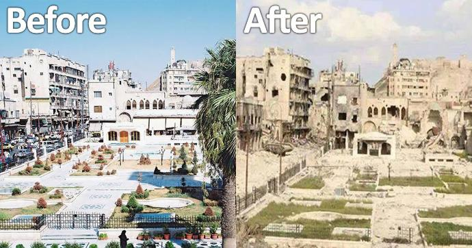 War does no one good; The heartbreaking ruins of a 4,000-year-old city of Aleppo finally ends after four and a half years.