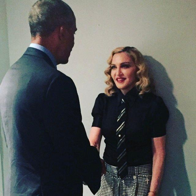 Madonna looking vulnerable in a way I've never seen.