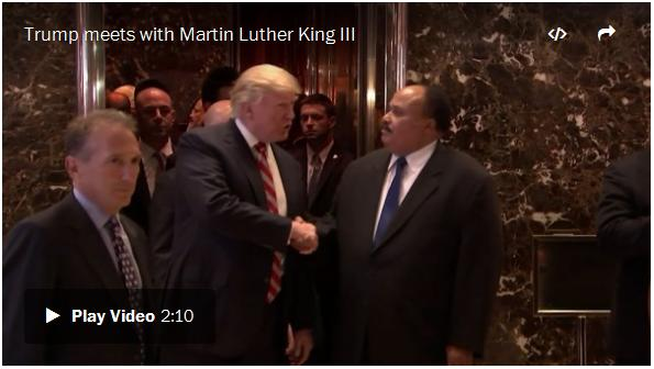 Martin Luther King III Meets With President Trump On The Day That Celebrates What His Father Stood For.  Democrats In Full Panic Mode.