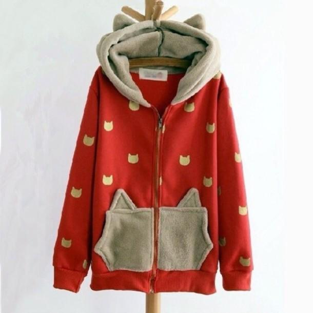 Quirky Hooded Leisure Clothing