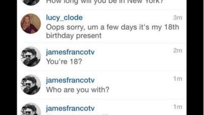 James Franco flirting scandal with teen