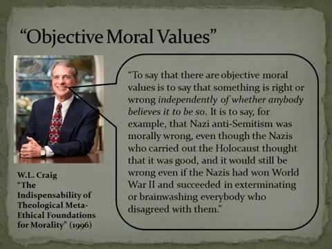 objective morality It's at the top of the page: 'do objective moral truths exist in reality can you explain, in a universe without objective morality, how this can be true.