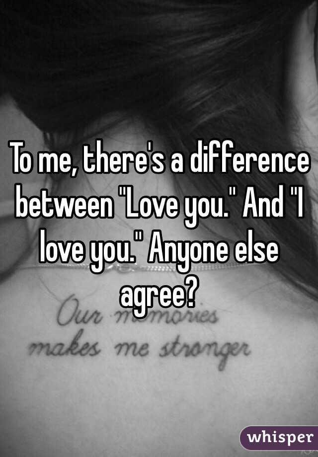 There is a difference between