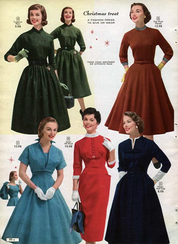Women's Fashions: 1950's vs. Now