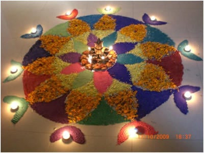 Beautiful Rangoli Designs (Diwali in India)