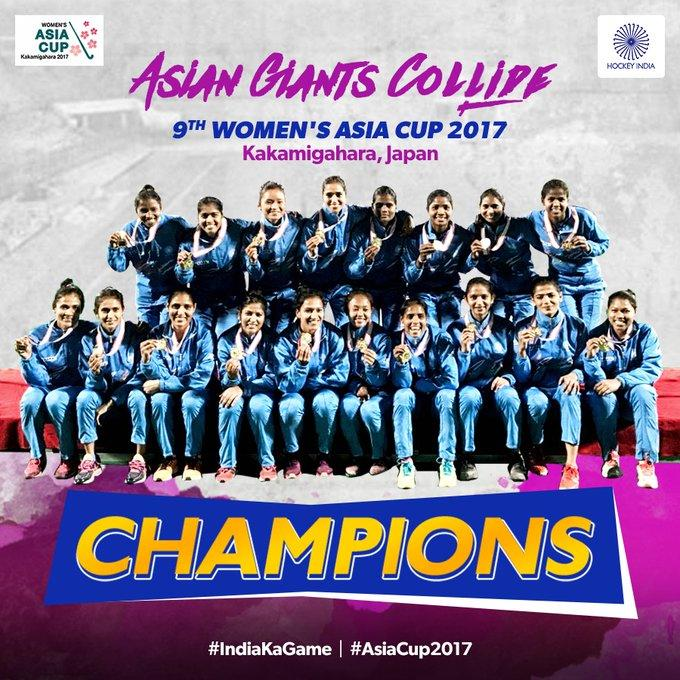 India Beat China to Win Women's Asia Cup Hockey Title