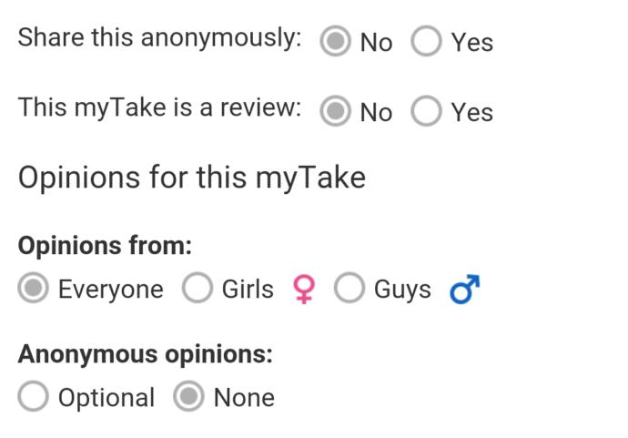 How to write a MyTake in the App of GirlsAskGuys