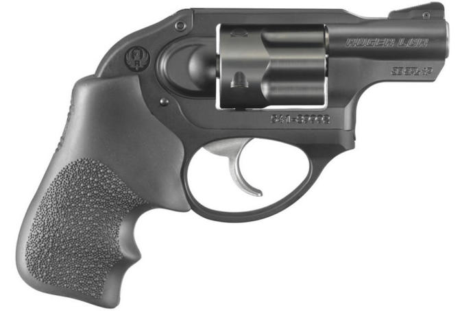 A Ruger LCR, a 5 shot, lightweight revolver. It is well known for its ease of carrying, so much so it is often carried in people's pockets.