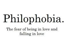 scared of being in love