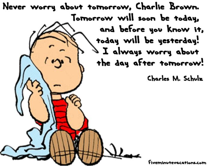 Inspirational quotes as told by Peanuts, Garfield and Archie