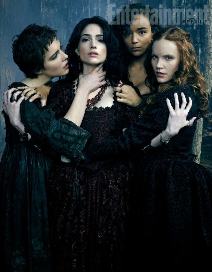 Most of the witches in Salem are dark looking people. There's only a couple of gingers and a few old gray hags in it as well. Cliche!