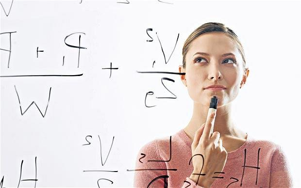 A woman does not need to be a STEM blackboard equation model to be intelligent!