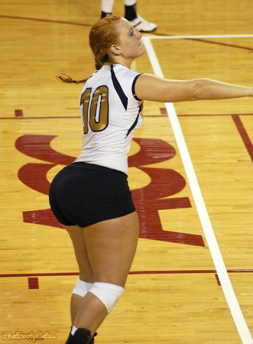 A college volleyball player