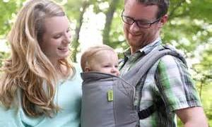 An ergonomically-designed baby carrier can help ease spine stress as you tote your tot.