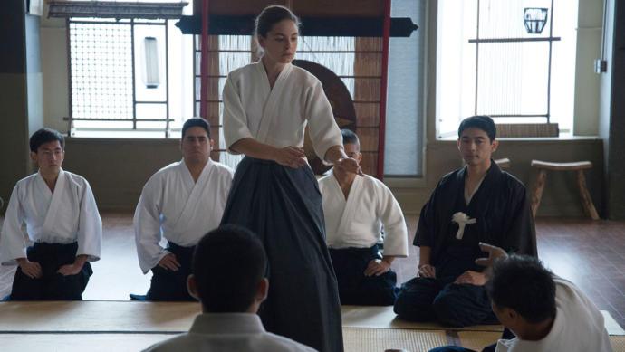 Juliana practicing martial arts