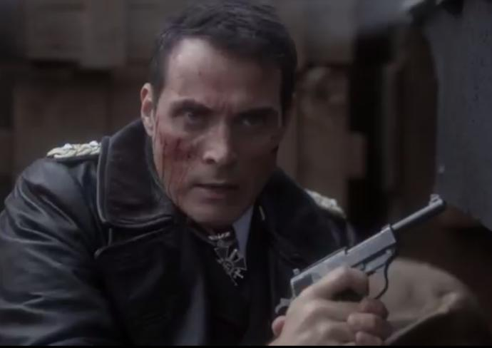 John Smith in a shootout with resistance fighters