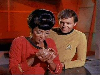 It could be selling towels or tribbles, but touching helps get the buyer hooked!