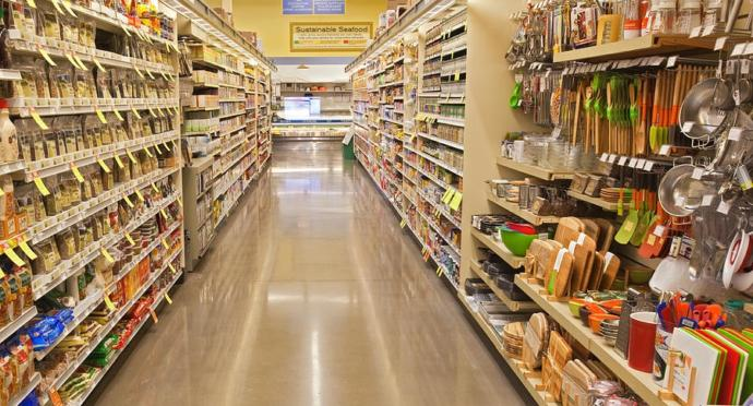 Avoid the impulse items on either side of the popular items found in the middle of the aisles.