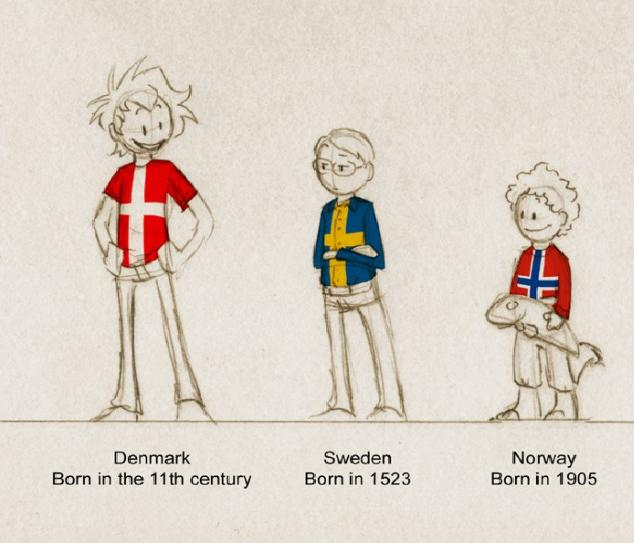 Like how triplets are different individuals, that's how the Scandinavian countries are different countries too