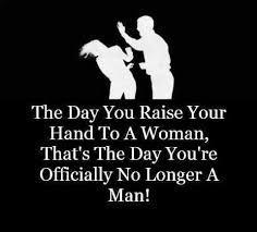 Never a man!