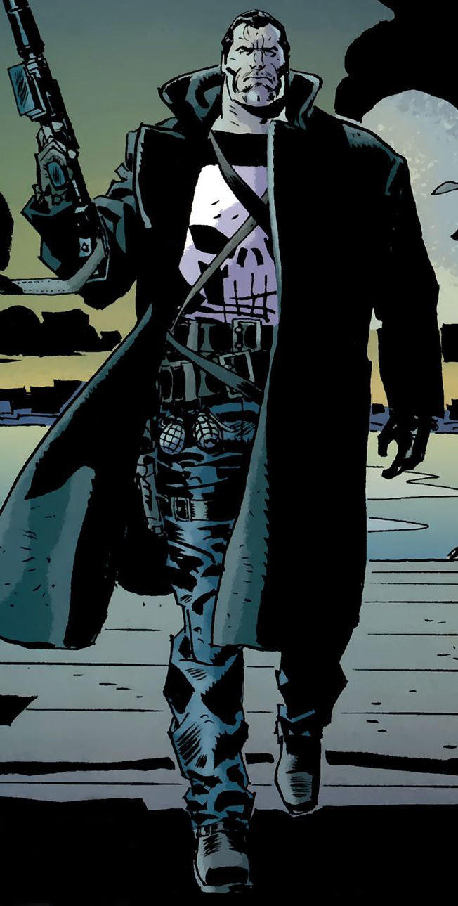 """The """"Punisher"""" as portrayed in some comics"""
