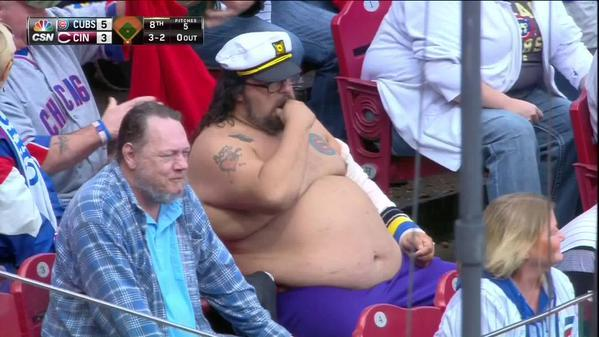 The Chicago Cubs fan in his natural habitat.
