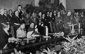 The signing of the pact