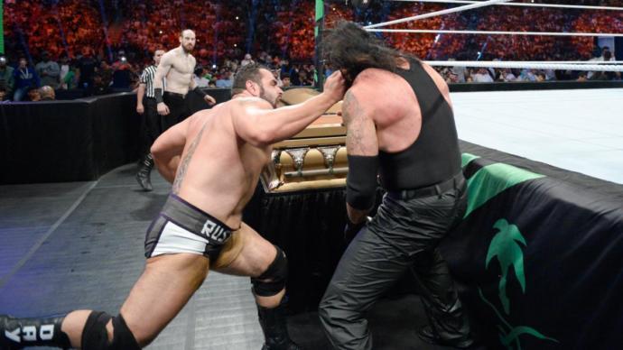 Undertaker vs Rusev casket match